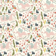 Enchanted Unicorns in Cream Organic Cotton by Birch Fabrics sold by Online Canadian Fabric Store Woven Modern Fabric Gallery
