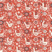 Phesants Organic Cotton by Birch Fabrics sold by Online Canadian Fabric Store Woven Modern Fabric Gallery