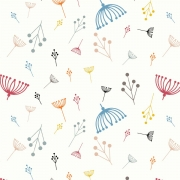 Twig Multi Organic fabric by Charley Harper for Birch Fabrics sold by Online Canadian Fabric Store Woven Modern Fabric Gallery