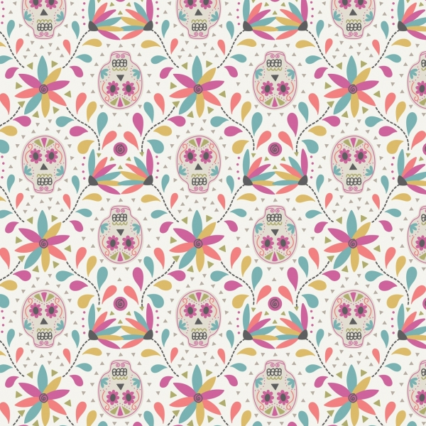 Skulls by Lewis & Irene sold by Online Canadian Fabric Store Woven Modern Fabric Gallery
