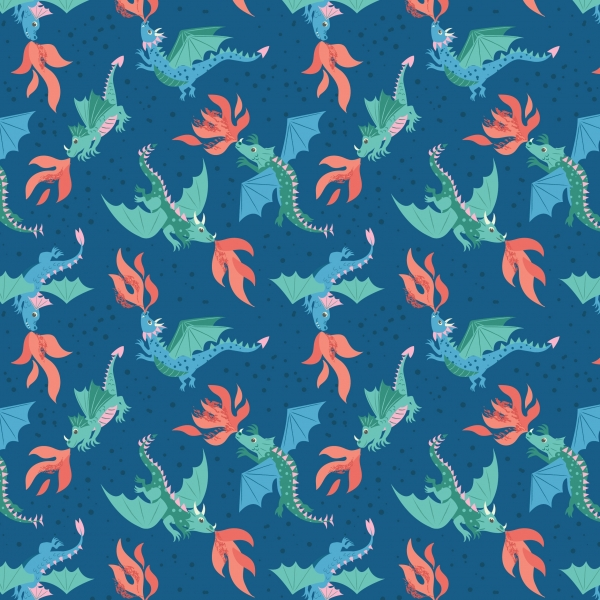Flying Dragons by Lewis & Irene sold by Online Canadian Fabric Store Woven Modern Fabric Gallery