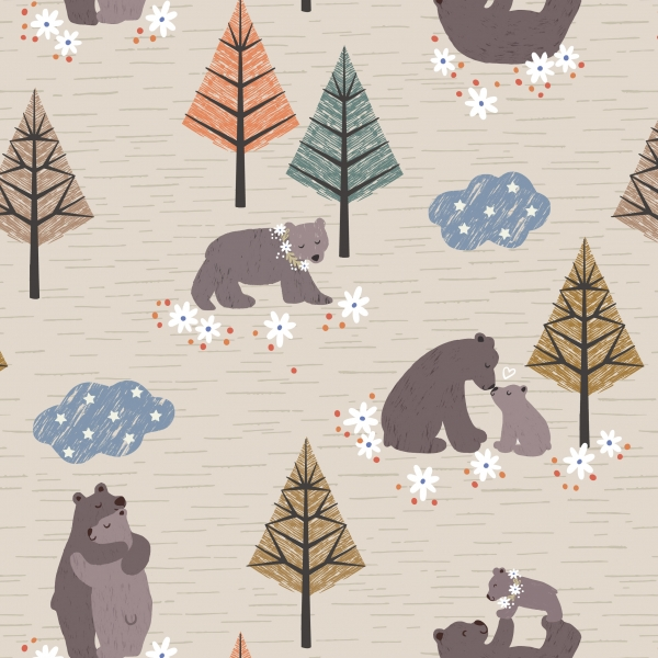 Bear Hug by Lewis & Irene sold by Online Canadian Fabric Store Woven Modern Fabric Gallery