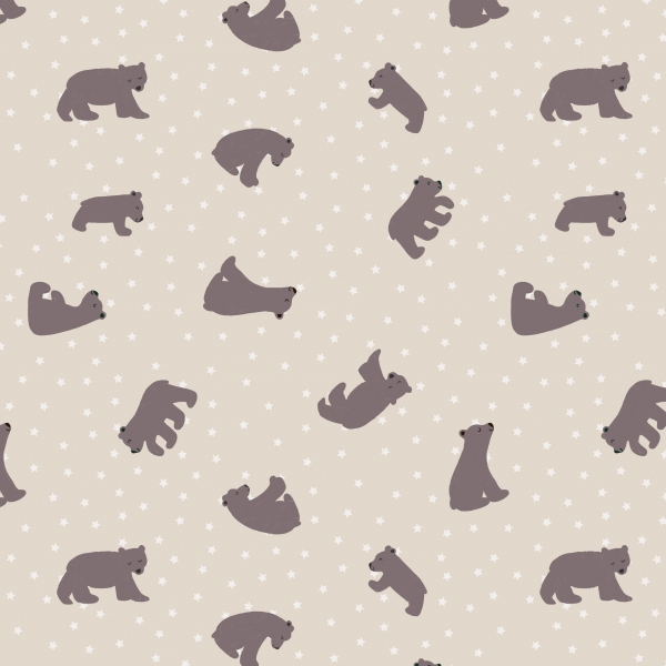 Starry Bear by Lewis & Irene sold by Online Canadian Fabric Store Woven Modern Fabric Gallery