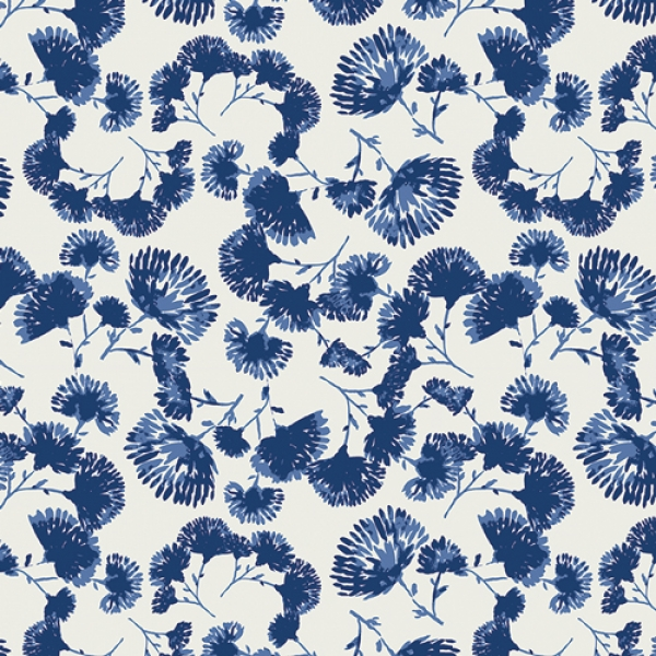 Foliage Escape Lapis by Art Gallery Fabrics sold by Online Canadian Fabric Store Woven Modern Fabric Gallery