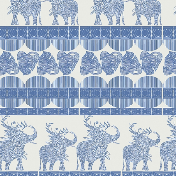 Good Fortunes Royal by Art Gallery Fabrics sold by Online Canadian Fabric Store Woven Modern Fabric Gallery