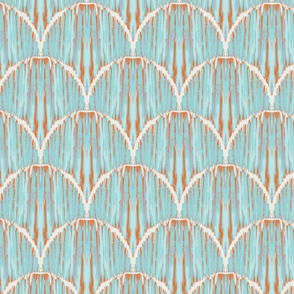 Courbe Ikat Sky by Art Gallery Fabrics sold by Online Canadian Fabric Store Woven Modern Fabric Gallery
