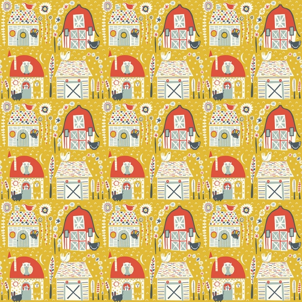 Folkland Organic Cotton by Birch Fabrics sold by Online Canadian Fabric Store Woven Modern Fabric Gallery