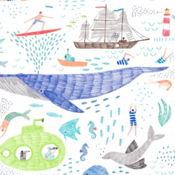 Life of Porpoise by Dear Stella Fabrics sold by Online Canadian Fabric Store Woven Modern Fabric Gallery