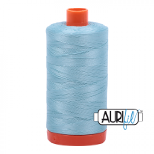 Aurifil Thread Light Grey Turquoise sold by Online Canadian Fabric Store Woven Modern Fabric Gallery