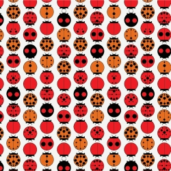 Ladybugs Organic fabric by Charley Harper for Birch Fabrics sold by Online Canadian Fabric Store Woven Modern Fabric Gallery