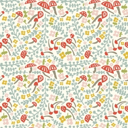 Mushroom Keep Organic Cotton by Birch Fabrics sold by Online Canadian Fabric Store Woven Modern Fabric Gallery