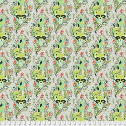 Racoon Agave from Tula Pink's All Star collection  sold by Online Canadian Fabric Store Woven Modern Fabric Gallery