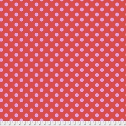 Pom Poms Poppy from Tula Pink's All Star collection  sold by Online Canadian Fabric Store Woven Modern Fabric Gallery