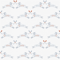 Winterfold Rabbits by Dashwood studio sold by Online Canadian Fabric Store Woven Modern Fabric Gallery