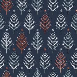 Winterfold Trees  by Dashwood studio sold by Online Canadian Fabric Store Woven Modern Fabric Gallery