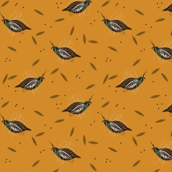 Mountain Quail Organic by Charley Harper for Birch Fabrics sold by Online Canadian Fabric Store Woven Modern Fabric Gallery