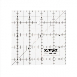 Olfa Frosted Quilt Ruler 4.5x4.5 sold by Online Canadian Fabric Store Woven Modern Fabric Gallery