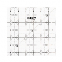 Olfa Frosted Quilt Ruler 6.5x6.5 sold by Online Canadian Fabric Store Woven Modern Fabric Gallery