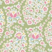 Charlene Green by Tilda sold by Online Canadian Fabric Store Woven Modern Fabric Gallery