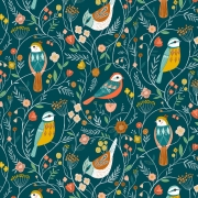 Aviary Birds from Dashwood Studios sold by Online Canadian Fabric Store Woven Modern Fabric Gallery