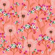 Aviary Pink Dandelion from Dashwood Studios sold by Online Canadian Fabric Store Woven Modern Fabric Gallery