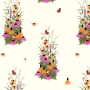 Wildflowers Organic cotton fabric by Charley Harper for Birch Fabrics sold by Online Canadian Fabric Store Woven Modern Fabric Gallery