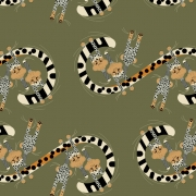 Convivial Pursuit Organic fabric by Charley Harper for Birch Fabrics sold by Online Canadian Fabric Store Woven Modern Fabric Gallery
