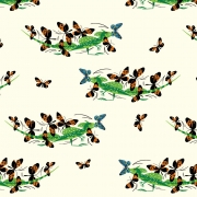 Basilisk Organic cotton fabric by Charley Harper for Birch Fabrics sold by Online Canadian Fabric Store Woven Modern Fabric Gallery