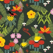 Island Birds Organic fabric by Charley Harper for Birch Fabrics sold by Online Canadian Fabric Store Woven Modern Fabric Gallery