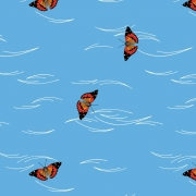 Butterfly Flight Organic fabric by Charley Harper for Birch Fabrics sold by Online Canadian Fabric Store Woven Modern Fabric Gallery