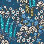 Blue Bank Flora by Mr Domestic for Art Gallery Fabrics sold by Online Canadian Fabric Store Woven Modern Fabric Gallery