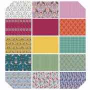 """Jardin de la Reine 10"""" Charm Pack by Odile Bailloeul for Free Spirit fabrics sold by Online Canadian Fabric Store Woven Modern Fabric Gallery"""