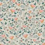 Lovebirds Celeste Art Gallery Fabrics sold by Online Canadian Fabric Store Woven Modern Fabric Gallery