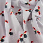 Ladybug Flight Organic cotton fabric by Charley Harper for Birch Fabrics sold by Online Canadian Fabric Store Woven Modern Fabric Gallery