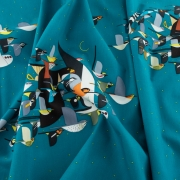 Missing Migrants Organic cotton fabric by Charley Harper for Birch Fabrics sold by Online Canadian Fabric Store Woven Modern Fabric Gallery