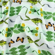 Flying Frog Organic cotton fabric by Charley Harper for Birch Fabrics sold by Online Canadian Fabric Store Woven Modern Fabric Gallery