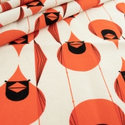 Organic Canvas Giant Cardinal by Charley Harper organic fabric from Birch Fabrics sold by Online Canadian Fabric Store Woven Modern Fabric Gallery