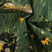 Organic Canvas Eastern Meadow Lark by Charley Harper organic fabric from Birch Fabrics sold by Online Canadian Fabric Store Woven Modern Fabric Gallery
