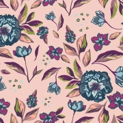 Enchanted Flora Ablush by Maureen Cracknell for Art Gallery Fabrics sold by Online Canadian Fabric Store Woven Modern Fabric Gallery