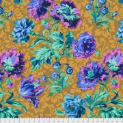 Baroque Floral blue by Philip Jacobs sold by Online Canadian Fabric Store Woven Modern Fabric Gallery