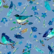 Romantic Birds by August Wren for Dear Stella Fabrics  sold by Online Canadian Fabric Store Woven Modern Fabric Gallery