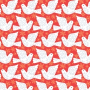 Winter Doves from Dashwood Studios sold by Online Canadian Fabric Store Woven Modern Fabric Gallery
