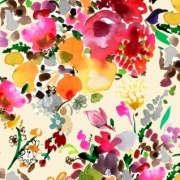 Floral Bouquets by August Wren for Dear Stella  Fabrics sold by Online Canadian Fabric Store Woven Modern Fabric Gallery