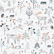 Winterfold Forest White by Dashwood studio sold by Online Canadian Fabric Store Woven Modern Fabric Gallery
