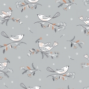 Winterfold Birds by Dashwood studio sold by Online Canadian Fabric Store Woven Modern Fabriryc Galle