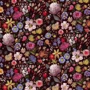 Autumn Floral fabric from Dear Stella  Fabrics sold by Online Canadian Fabric Store Woven Modern Fabric Gallery