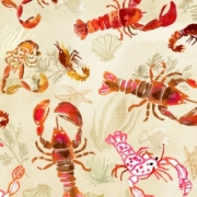 Lobster fabric by August Wren for Dear Stella Fabrics sold by Online Canadian Fabric Store Woven Modern Fabric Gallery