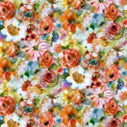 Floral Wash fabric from Dear Stella  Fabrics sold by Online Canadian Fabric Store Woven Modern Fabric Gallery