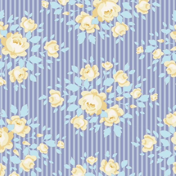Marylou  Blue  by Tilda sold by Online Canadian Fabric Store Woven Modern Fabric Gallery