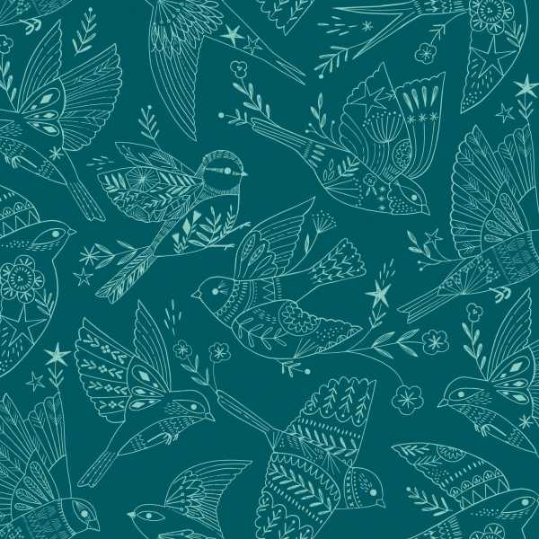 Aviary Shadow Birds from Dashwood Studios sold by Online Canadian Fabric Store Woven Modern Fabric Gallery